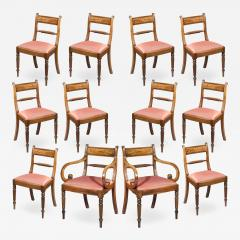 Gillows of Lancaster London Set of Twelve Regency Dining Chairs - 1215315