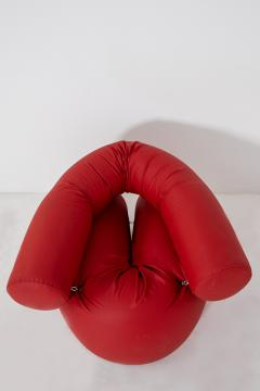 Giovanni Gismondi Contemporary Italian Armchair by Giovanni Grismondi Design Red Leather 2020 - 2014970