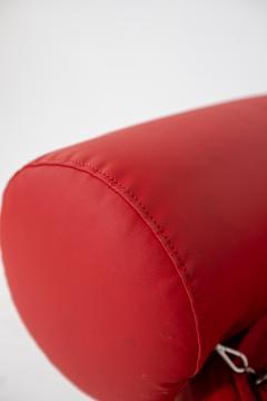 Giovanni Gismondi Contemporary Italian Armchair by Giovanni Grismondi Design Red Leather 2020 - 2014971