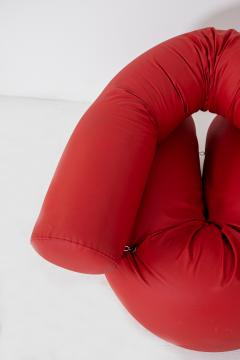 Giovanni Gismondi Contemporary Italian Armchair by Giovanni Grismondi Design Red Leather 2020 - 2014972