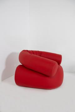 Giovanni Gismondi Contemporary Italian Armchair by Giovanni Grismondi Design Red Leather 2020 - 2014973