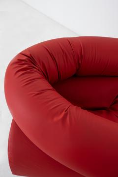 Giovanni Gismondi Contemporary Italian Armchair by Giovanni Grismondi Design Red Leather 2020 - 2014974