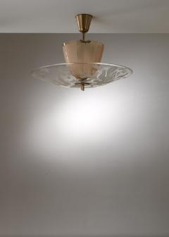 Gl ssner Glossner decorated glass pendant lamp - 1490789