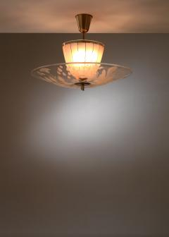 Gl ssner Glossner decorated glass pendant lamp - 1490790