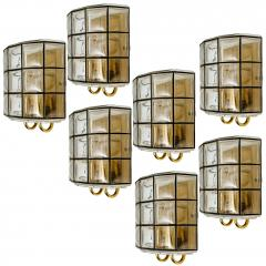 Glash tte Limburg 1 of the 7 of Iron and Bubble Glass Sconces Wall Lamps by Limburg Germany 1960 - 1151035