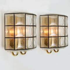 Glash tte Limburg 1 of the 7 of Iron and Bubble Glass Sconces Wall Lamps by Limburg Germany 1960 - 1151037