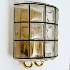 Glash tte Limburg 1 of the 7 of Iron and Bubble Glass Sconces Wall Lamps by Limburg Germany 1960 - 1151039