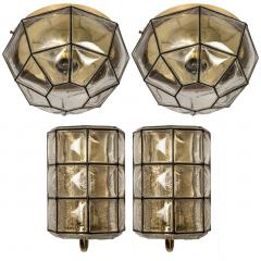 Glash tte Limburg 1 of the 7 of Iron and Bubble Glass Sconces Wall Lamps by Limburg Germany 1960 - 1151058