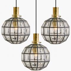 Glash tte Limburg 1 of the 7 of Iron and Bubble Glass Sconces Wall Lamps by Limburg Germany 1960 - 1151060