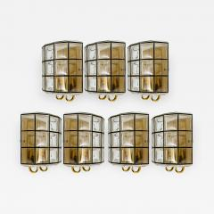 Glash tte Limburg 1 of the 7 of Iron and Bubble Glass Sconces Wall Lamps by Limburg Germany 1960 - 1152685