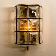 Glash tte Limburg 1 of the 8 of Iron and Bubble Glass Sconces Wall Lamps by Limburg Germany 1960 - 1201376