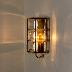 Glash tte Limburg 1 of the 8 of Iron and Bubble Glass Sconces Wall Lamps by Limburg Germany 1960 - 1201377