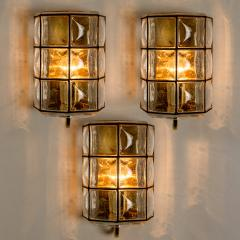 Glash tte Limburg 1 of the 8 of Iron and Bubble Glass Sconces Wall Lamps by Limburg Germany 1960 - 1201378