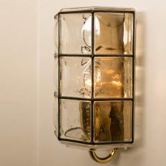 Glash tte Limburg 1 of the 8 of Iron and Bubble Glass Sconces Wall Lamps by Limburg Germany 1960 - 1201379