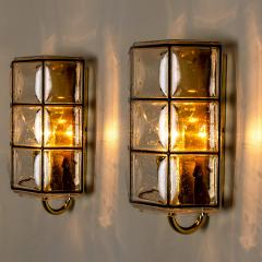 Glash tte Limburg 1 of the 8 of Iron and Bubble Glass Sconces Wall Lamps by Limburg Germany 1960 - 1201380