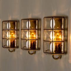 Glash tte Limburg 1 of the 8 of Iron and Bubble Glass Sconces Wall Lamps by Limburg Germany 1960 - 1201381