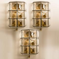 Glash tte Limburg 1 of the 8 of Iron and Bubble Glass Sconces Wall Lamps by Limburg Germany 1960 - 1201383