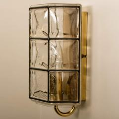 Glash tte Limburg 1 of the 8 of Iron and Bubble Glass Sconces Wall Lamps by Limburg Germany 1960 - 1201385