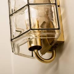 Glash tte Limburg 1 of the 8 of Iron and Bubble Glass Sconces Wall Lamps by Limburg Germany 1960 - 1201386