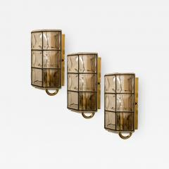 Glash tte Limburg 1 of the 8 of Iron and Bubble Glass Sconces Wall Lamps by Limburg Germany 1960 - 1202552