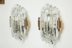 Glash tte Limburg Elegant pair of Faceted Sconces by Limburg  - 1155531