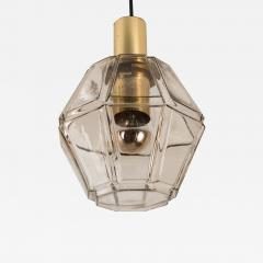 Glash tte Limburg Geometric Brass and Clear Glass Pendant Light by Limburg 1970s - 1190642