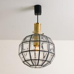 Glash tte Limburg One of the Four Large Iron and Clear Glass Light Fixtures by Limburg circa 1965 - 1190244