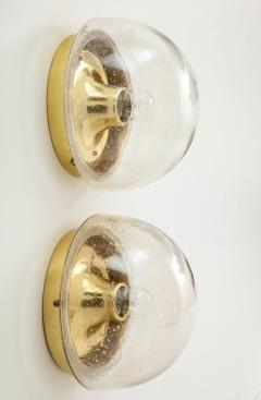 Glash tte Limburg Pair of 1970s Glass Dome Sconces by Limburg - 1090774