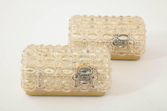 Glash tte Limburg Pair of Bubble Glass Sconces by Limburg - 1147805