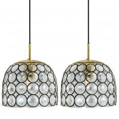 Glash tte Limburg Set of Four Circle Iron and Bubble Glass Sconces Light Fixtures Glash tte 1960 - 1026213