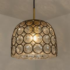 Glash tte Limburg Set of Four Circle Iron and Bubble Glass Sconces Light Fixtures Glash tte 1960 - 1026215