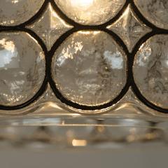 Glash tte Limburg Set of Four Circle Iron and Bubble Glass Sconces Light Fixtures Glash tte 1960 - 1026217
