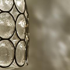 Glash tte Limburg Set of Four Circle Iron and Bubble Glass Sconces Light Fixtures Glash tte 1960 - 1026218