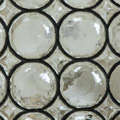 Glash tte Limburg Set of Four Circle Iron and Bubble Glass Sconces Light Fixtures Glash tte 1960 - 1026219