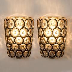 Glash tte Limburg Set of Four Circle Iron and Bubble Glass Sconces Light Fixtures Glash tte 1960 - 1026222