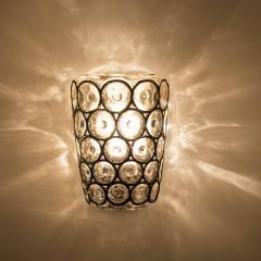 Glash tte Limburg Set of Four Circle Iron and Bubble Glass Sconces Light Fixtures Glash tte 1960 - 1026224