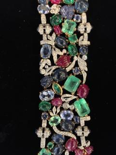 Glen Leroux Antiques Garden Bracelet signed Seaman Schepps - 886474