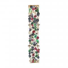 Glen Leroux Antiques Garden Bracelet signed Seaman Schepps - 887641