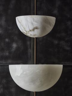 Glustin Luminaires Alabaster Half Spheres Vertical Suspension by Glustin Luminaires - 1676433