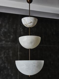 Glustin Luminaires Alabaster Half Spheres Vertical Suspension by Glustin Luminaires - 1676437