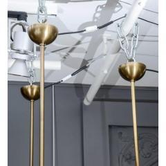 Glustin Luminaires Alabaster and Brass Globes Pendant - 736071