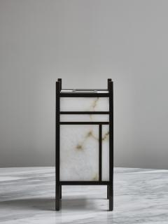 Glustin Luminaires Brass and Alabaster Andon Table Lamp by Glustin Luminaires - 1927764