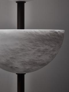 Glustin Luminaires Brass and Alabaster Cups Floor Lamp by Glustin Luminaires - 1945429