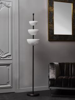 Glustin Luminaires Brass and Alabaster Cups Floor Lamp by Glustin Luminaires - 1945430
