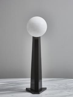 Glustin Luminaires Glustin Luminaires Asymmetrical Brass Table Lamp with alabaster Globe - 1924712