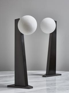 Glustin Luminaires Glustin Luminaires Asymmetrical Brass Table Lamp with alabaster Globe - 1924714