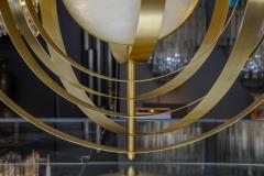 Glustin Luminaires Glustin Luminaires Creation Alabaster Suspension with Brass Rings - 714922