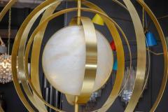 Glustin Luminaires Glustin Luminaires Creation Alabaster Suspension with Brass Rings - 714923