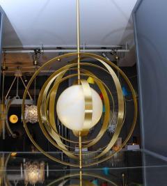 Glustin Luminaires Glustin Luminaires Creation Alabaster Suspension with Brass Rings - 714924