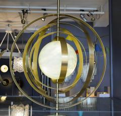 Glustin Luminaires Glustin Luminaires Creation Alabaster Suspension with Brass Rings - 714925
